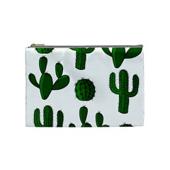 Cactuses pattern Cosmetic Bag (Medium)