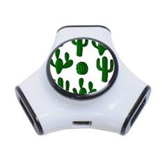 Cactuses pattern 3-Port USB Hub
