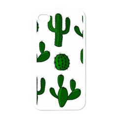 Cactuses pattern Apple iPhone 4 Case (White)