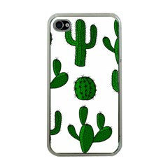 Cactuses pattern Apple iPhone 4 Case (Clear)
