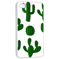 Cactuses pattern Apple iPhone 4/4s Seamless Case (White)