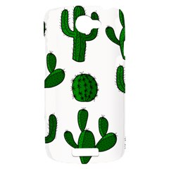 Cactuses pattern HTC One S Hardshell Case