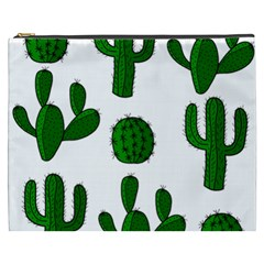 Cactuses pattern Cosmetic Bag (XXXL)