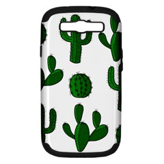 Cactuses pattern Samsung Galaxy S III Hardshell Case (PC+Silicone)