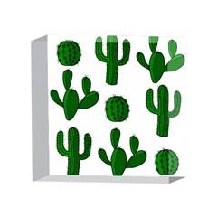 Cactuses pattern 4 x 4  Acrylic Photo Blocks