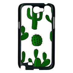 Cactuses pattern Samsung Galaxy Note 2 Case (Black)