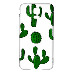 Cactuses pattern Samsung Galaxy S5 Back Case (White)