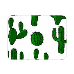 Cactuses pattern Double Sided Flano Blanket (Mini)