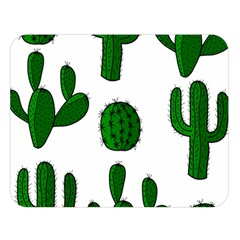 Cactuses pattern Double Sided Flano Blanket (Large)