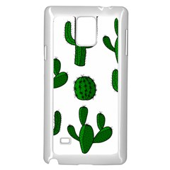 Cactuses pattern Samsung Galaxy Note 4 Case (White)