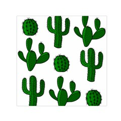 Cactuses pattern Small Satin Scarf (Square)