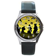 Khazar s dream  Round Metal Watch