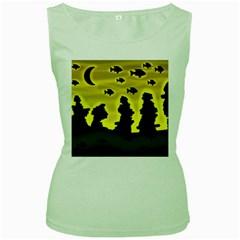 Khazar s dream  Women s Green Tank Top