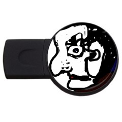 Old man USB Flash Drive Round (4 GB)