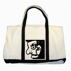 Old man Two Tone Tote Bag