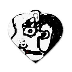 Old man Dog Tag Heart (Two Sides)