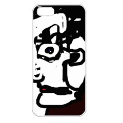 Old man Apple iPhone 5 Seamless Case (White)