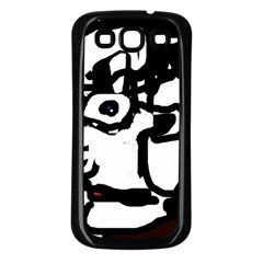 Old man Samsung Galaxy S3 Back Case (Black)
