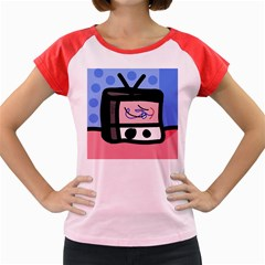 Old television Women s Cap Sleeve T-Shirt