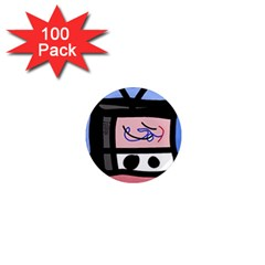 Old television 1  Mini Magnets (100 pack)
