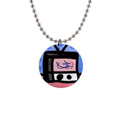 Old television Button Necklaces