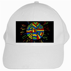 Colorful bang White Cap