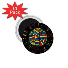 Colorful bang 1.75  Magnets (10 pack)