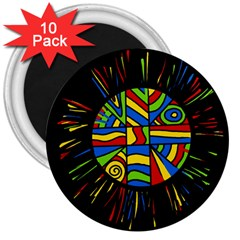 Colorful bang 3  Magnets (10 pack)