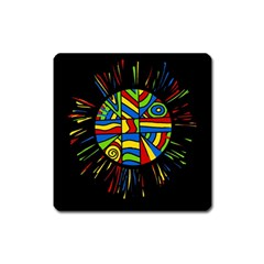 Colorful bang Square Magnet