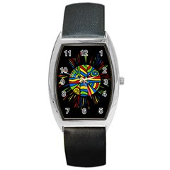 Colorful bang Barrel Style Metal Watch