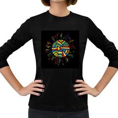 Colorful bang Women s Long Sleeve Dark T-Shirts