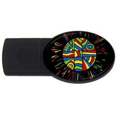 Colorful bang USB Flash Drive Oval (4 GB)