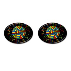 Colorful bang Cufflinks (Oval)