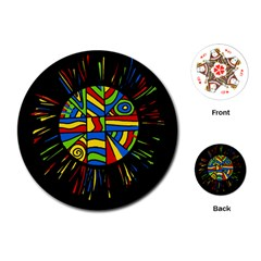 Colorful bang Playing Cards (Round)