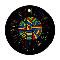 Colorful bang Round Ornament (Two Sides)