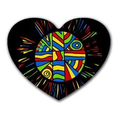 Colorful bang Heart Mousepads