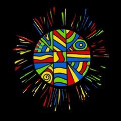 Colorful bang Magic Photo Cubes