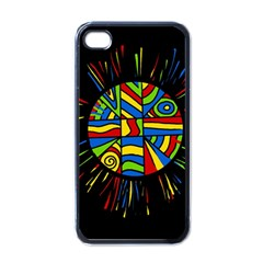 Colorful bang Apple iPhone 4 Case (Black)