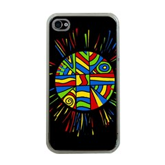 Colorful bang Apple iPhone 4 Case (Clear)