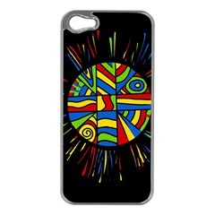 Colorful bang Apple iPhone 5 Case (Silver)
