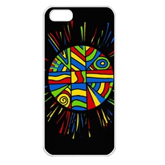 Colorful bang Apple iPhone 5 Seamless Case (White)