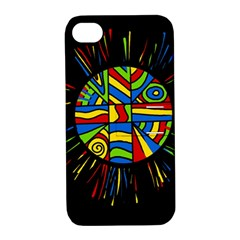 Colorful Bang Apple Iphone 4/4s Hardshell Case With Stand