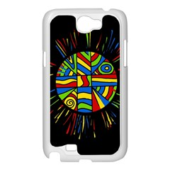 Colorful bang Samsung Galaxy Note 2 Case (White)