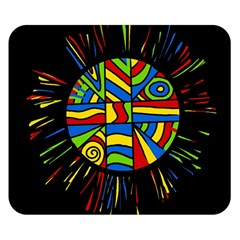 Colorful bang Double Sided Flano Blanket (Small)
