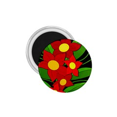 Red flowers 1.75  Magnets