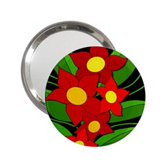 Red flowers 2.25  Handbag Mirrors