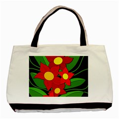 Red flowers Basic Tote Bag