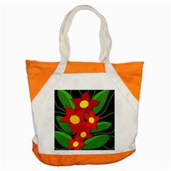 Red flowers Accent Tote Bag