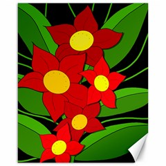 Red flowers Canvas 16  x 20