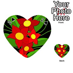 Red flowers Playing Cards 54 (Heart)